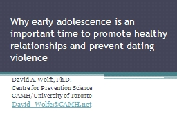 Why early adolescence is an important time to promote healt