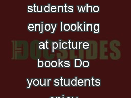 Adapting Coffee Table Books By MaryAnn Demchak October   Do you have students who enjoy looking at picture books Do your students enjoy exploring books that are enhanced with textures but the readily