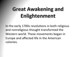 Great Awakening and