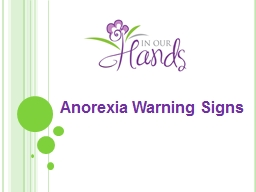 Anorexia Warning Signs