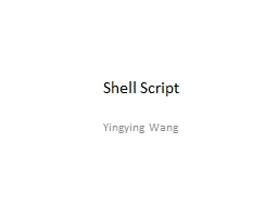 Shell Script PowerPoint PPT Presentation