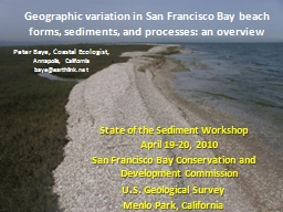 Geographic variation in San Francisco Bay beach forms, sedi PowerPoint PPT Presentation