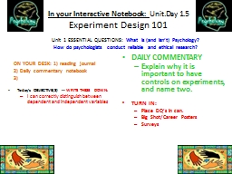 In your Interactive Notebook: PowerPoint PPT Presentation