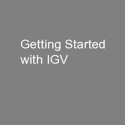 Getting Started with IGV