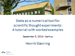 Stata as a numerical tool for PowerPoint PPT Presentation
