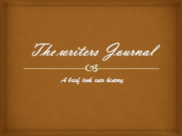 The writers Journal
