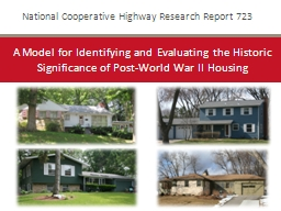 National Cooperative Highway Research Report