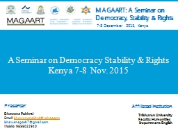 A Seminar on Democracy Stability & Rights