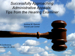 Successfully Approaching Administrative Appeals: