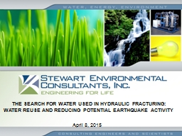 THE SEARCH FOR WATER USED IN HYDRAULIC FRACTURING: WATER RE PowerPoint PPT Presentation