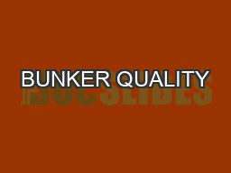 BUNKER QUALITY