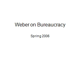Weber on Bureaucracy