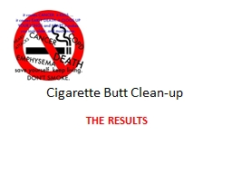 Cigarette Butt Clean-up