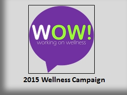 2015 Wellness Campaign PowerPoint PPT Presentation