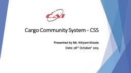 Cargo Community System - CSS