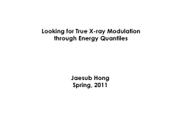 Looking for True X-ray Modulation through