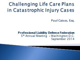 Challenging Life Care Plans in Catastrophic Injury