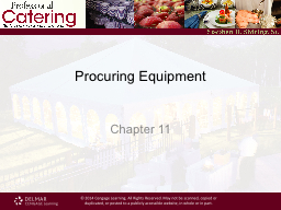 Procuring Equipment