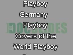 Playboy Magazine  May  By Playboy Germany   Playboy Covers of the World Playboy Germany Covers of  Playboy Covers