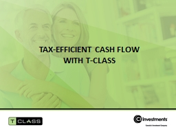 Tax-efficient cash flow