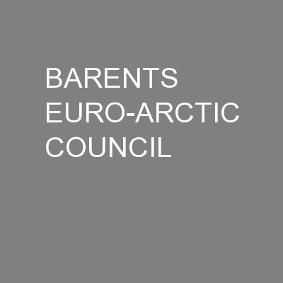 BARENTS EURO-ARCTIC COUNCIL