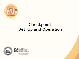 Checkpoint PowerPoint PPT Presentation