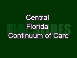Central Florida Continuum of Care