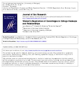 This article was downloaded by University of Michigan On  May  At  Publisher Routledge Informa Ltd Registered in England and Wales Registered Number  Registered office Mortimer House  Mortimer Street