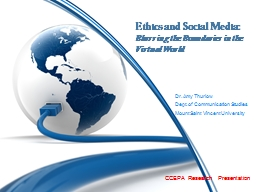 Ethics and Social Media: PowerPoint PPT Presentation