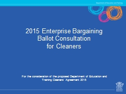 2015 Enterprise Bargaining