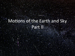 Motions of the Earth and