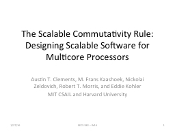 The Scalable