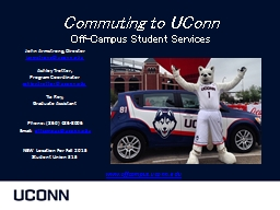 Commuting to UConn