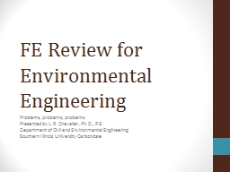 FE Review for Environmental Engineering PowerPoint PPT Presentation