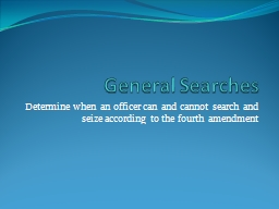 General Searches
