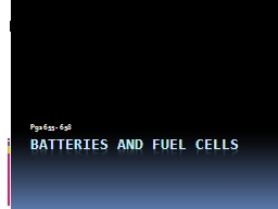 Batteries and Fuel Cells PowerPoint PPT Presentation