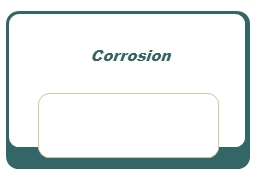 Corrosion PowerPoint PPT Presentation
