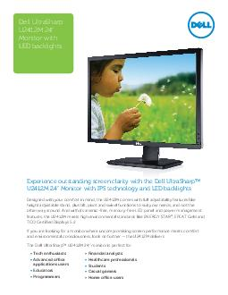 Experience outstanding screen clarity with the Dell UltraSharp UM  Monitor with IPS technology and LED backlights Designed with your comfort in mind the UM comes with full adjustability features like