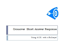 Crossover Short Answer Response