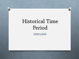 Historical Time Period