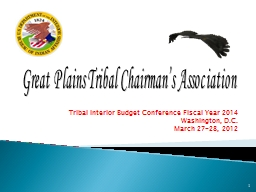 Tribal Interior Budget Conference Fiscal Year 2014
