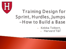 Training Design for