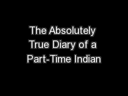 Diary of a part time indian chapters