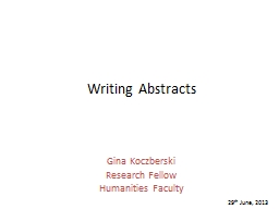 Writing Abstracts
