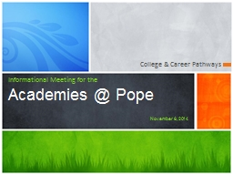 College & Career Pathways PowerPoint PPT Presentation