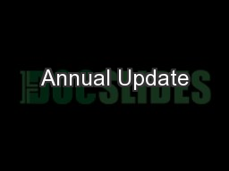 Annual Update PowerPoint PPT Presentation