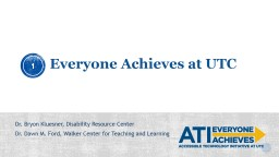 Accessible Technology Initiative PowerPoint PPT Presentation