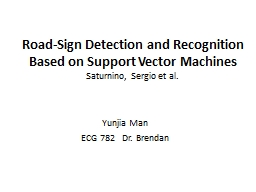 Road-Sign Detection and Recognition Based PowerPoint PPT Presentation
