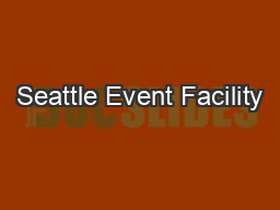 Seattle Event Facility