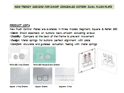 NEW TRENDY DESIGNS FOR SIAMP CONCEALED CISTERN DUAL FLUSH P